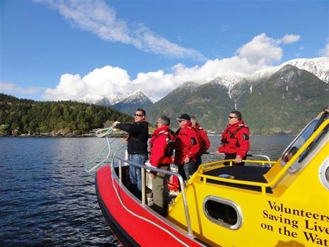 Royal Canadian Marine Search And Rescue training in Howe Sound