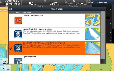 Raymarine Lighthouse r17 Select Chart