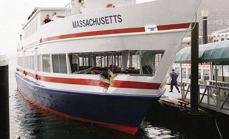 MBTA ferries collide