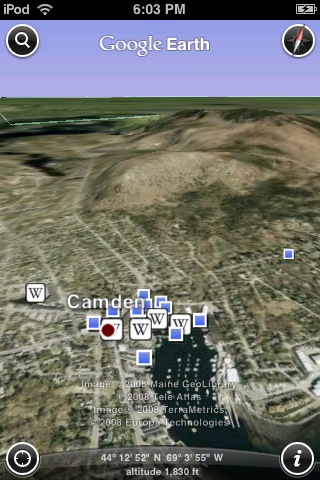 IPod Touch Google Earth Camden cPanbo