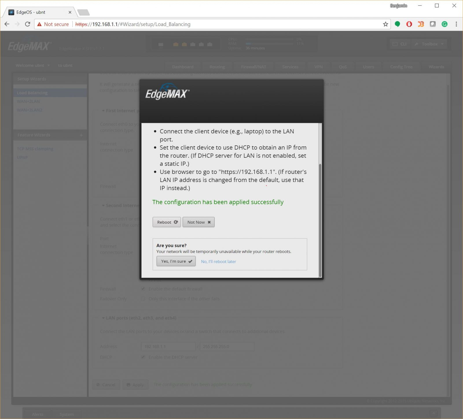 Configuring a Ubiquiti EdgeRouter X for WiFi and cell