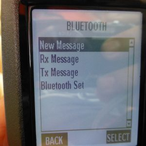 The Bluetooth menu probably should be called SMS or Texting