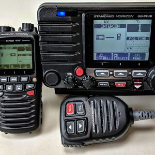 Standard Horizon GX6000 VHF & wireless RAM 4W mics, finally!