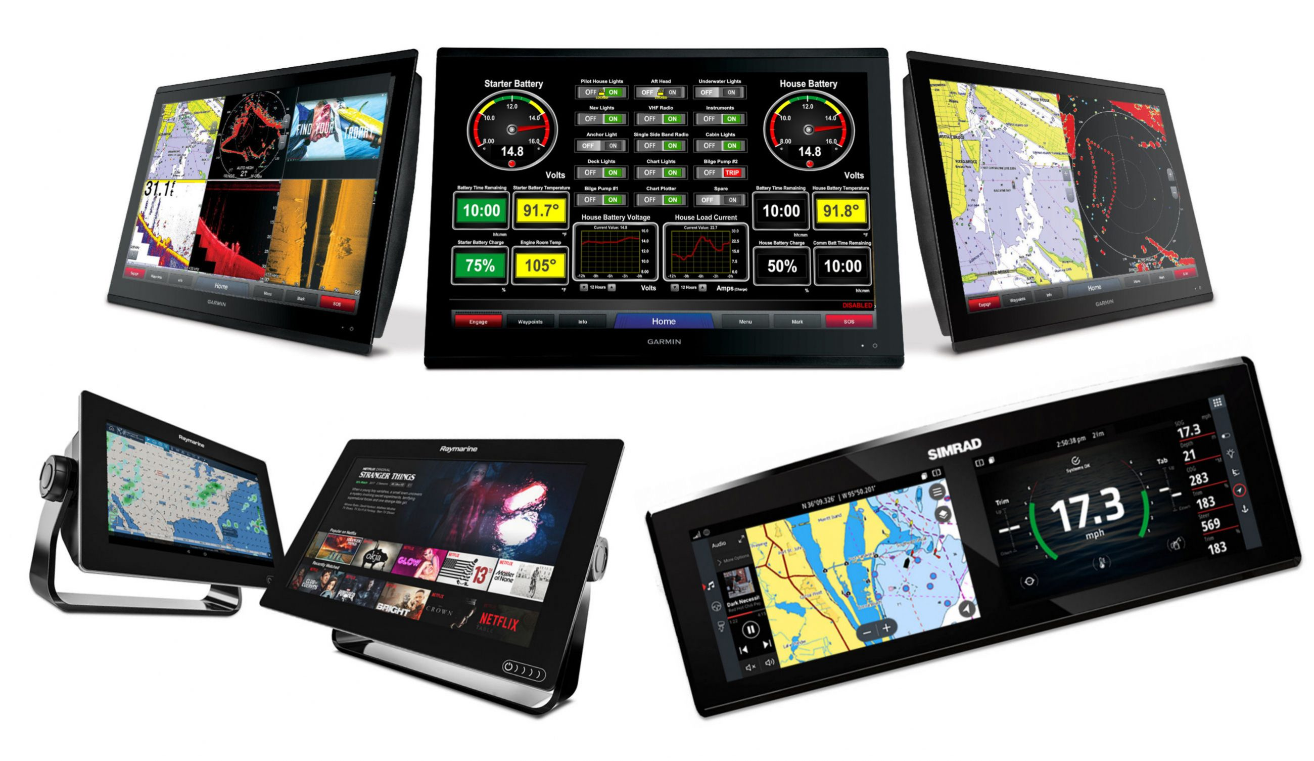 More boat system MFD apps: Maretron, Octoplex, Lumishore, Victron