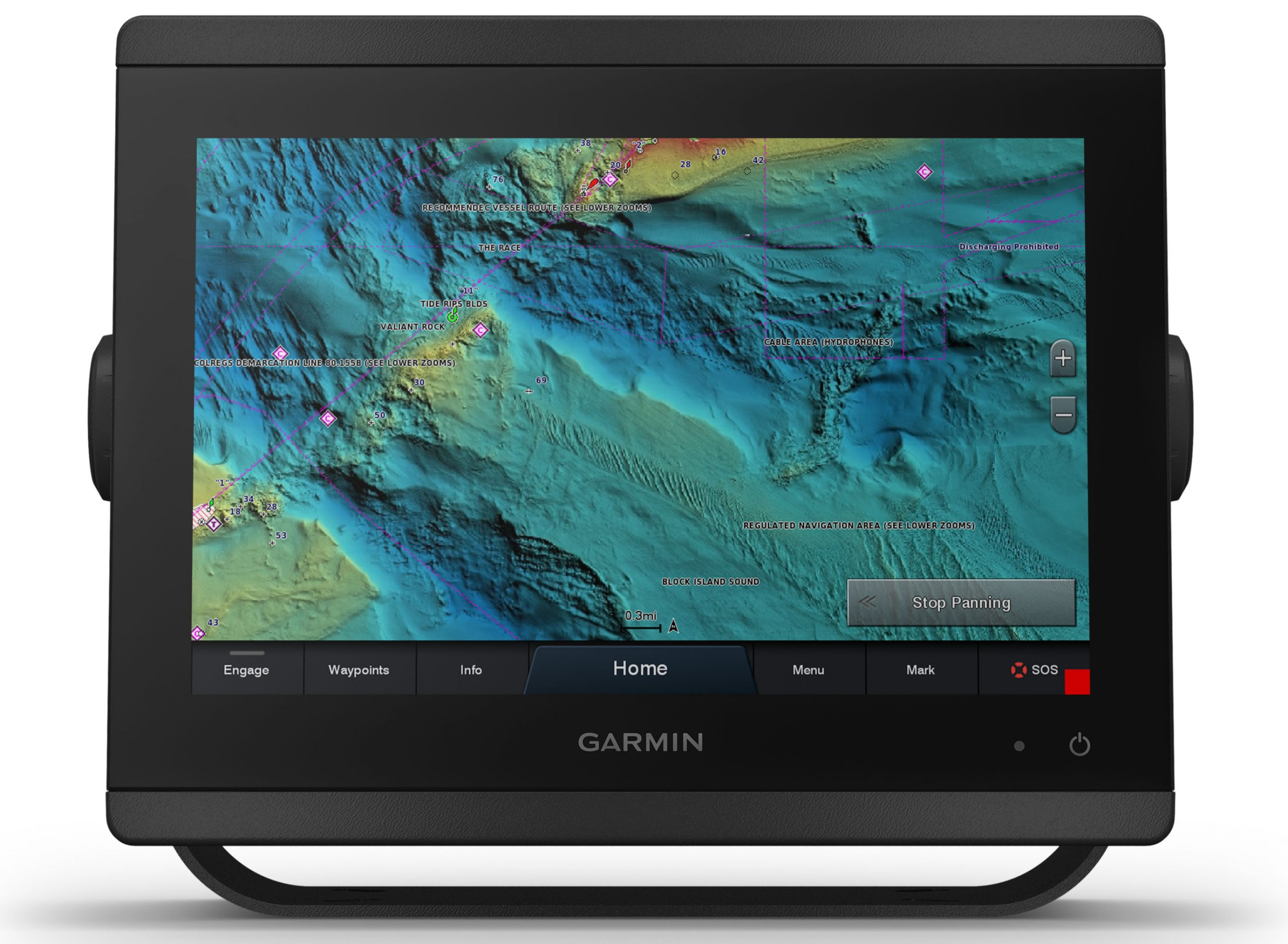 Garmin adds high-resolution relief shading to its premium