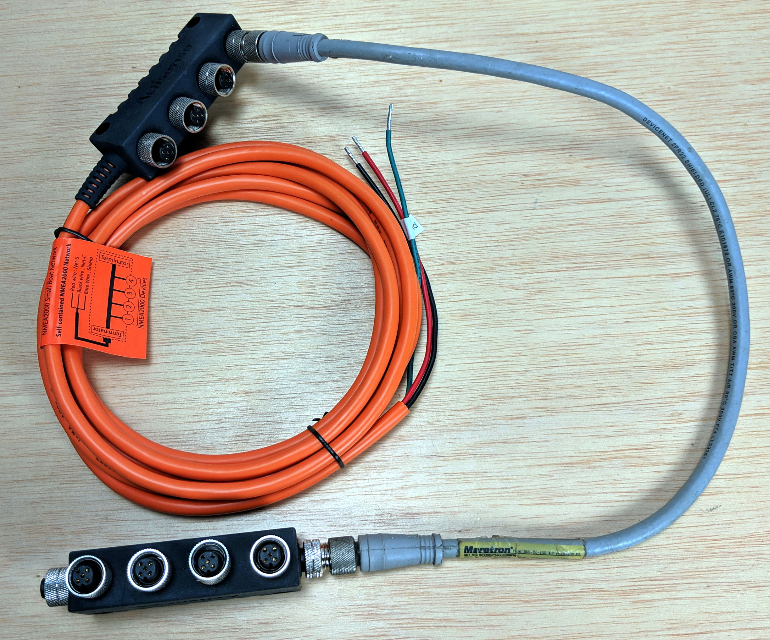 Actisense NMEA 2000 cables & connectors, plus network design tips