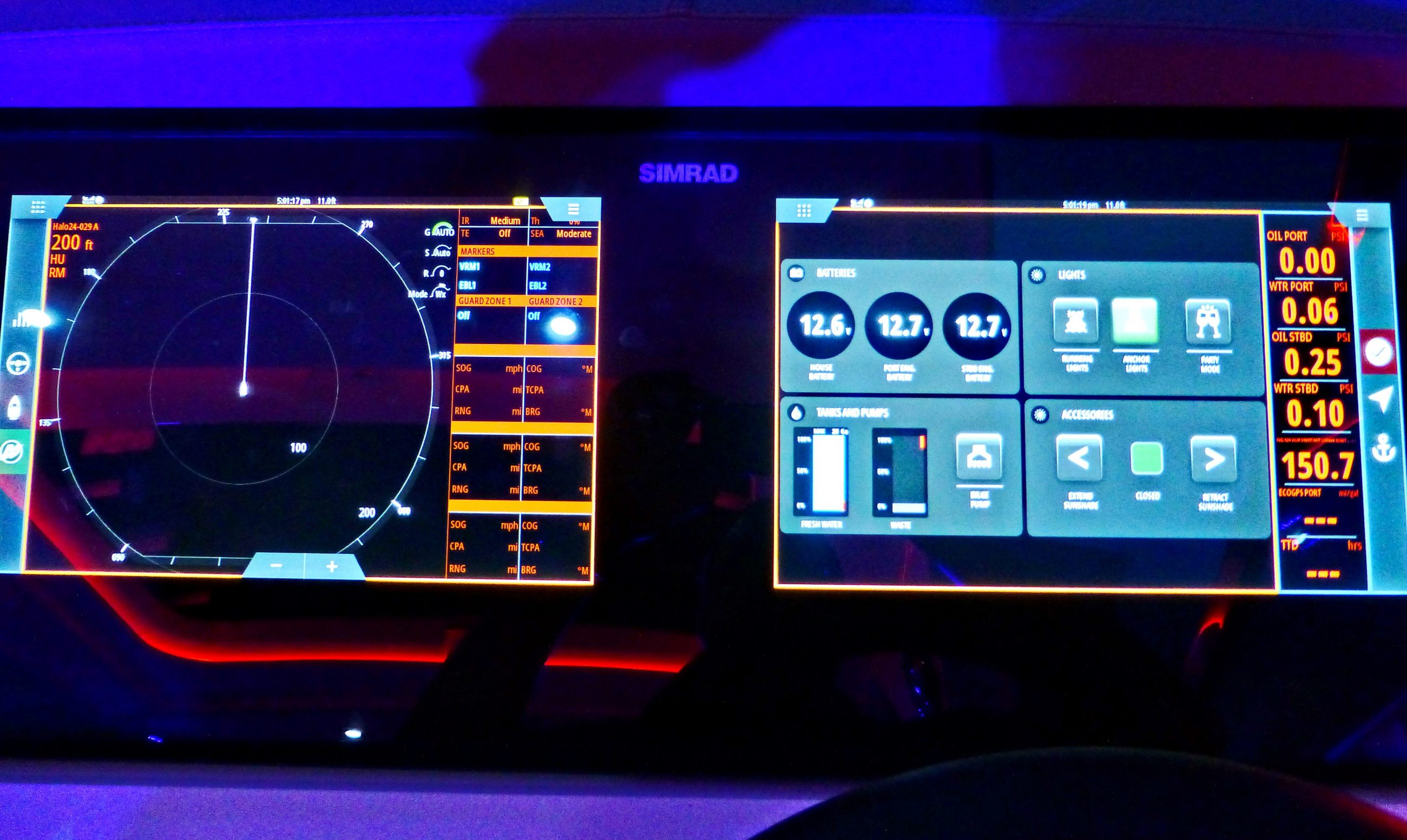 Information display and Ship Control, hands on with next