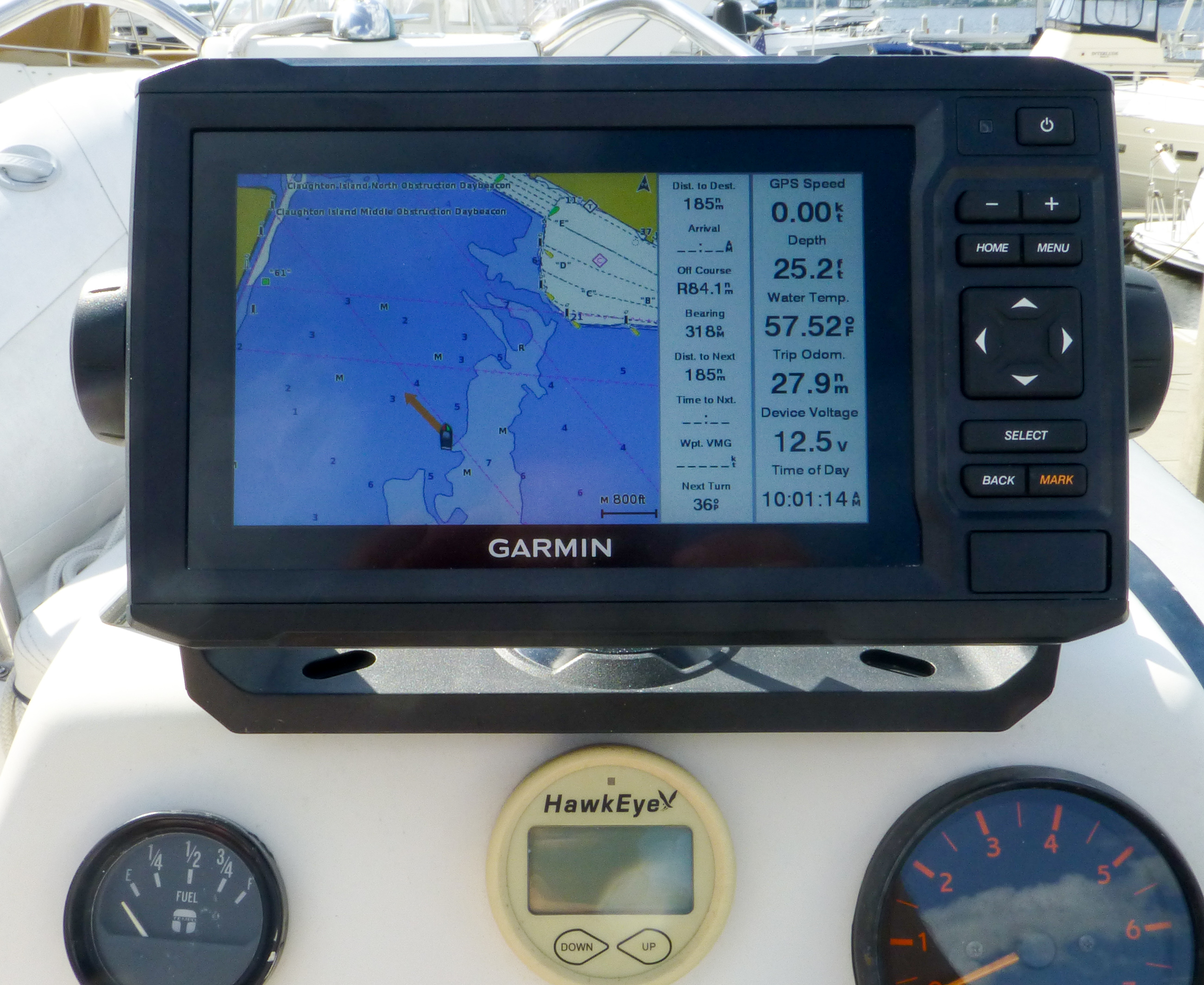 Dinghy as depth scout with Garmin QuickDraw Contours - Panbo