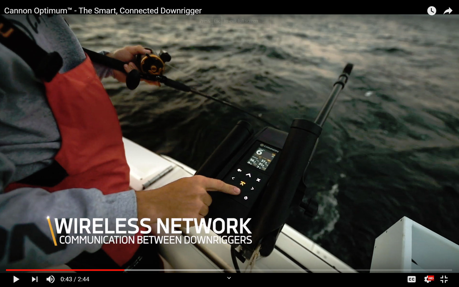 Cannon Modernizes Downrigger Technology with Connected