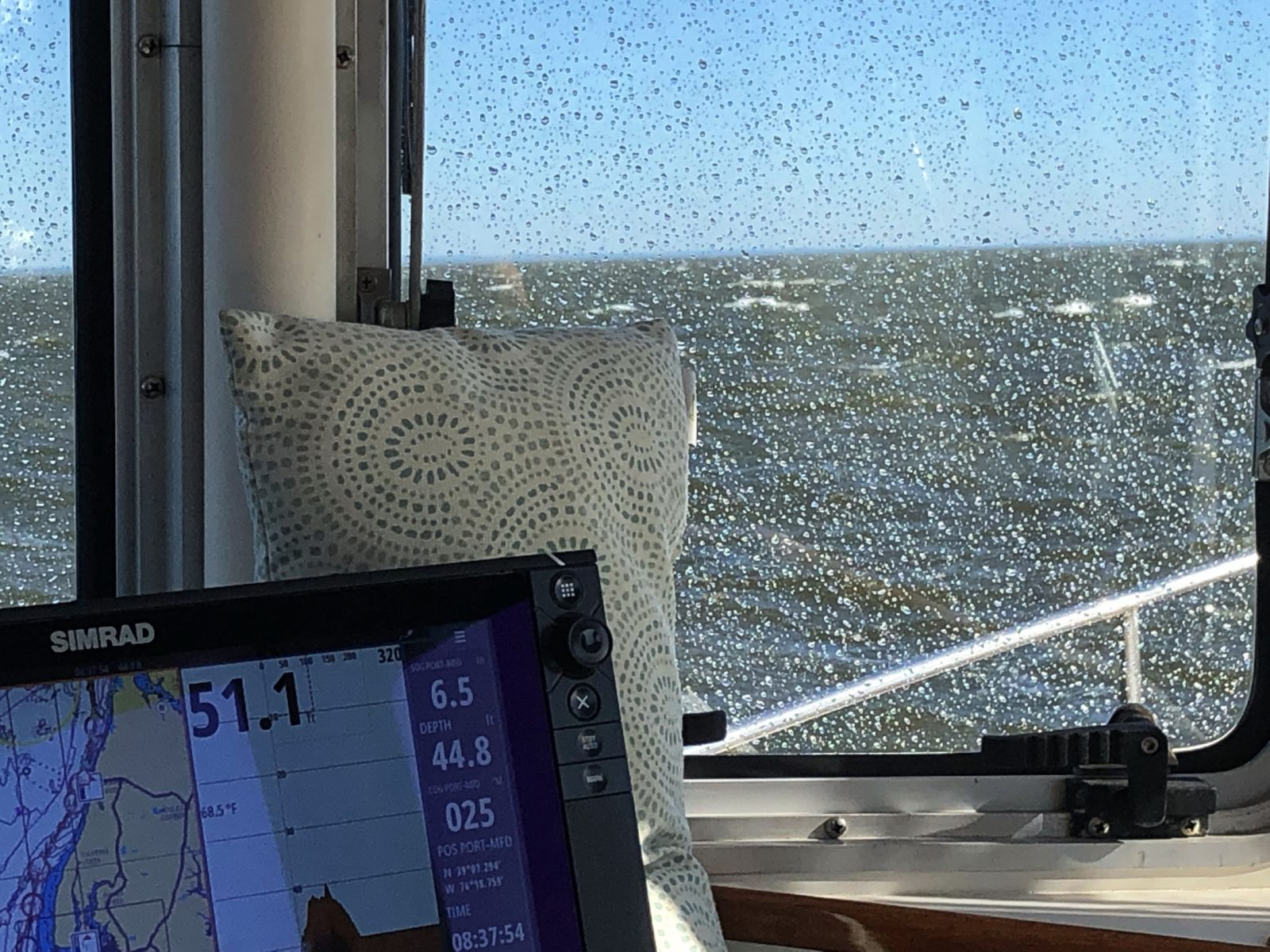 What those 30 knot beam winds looked like on Chesapeake Bay 5-24-2019
