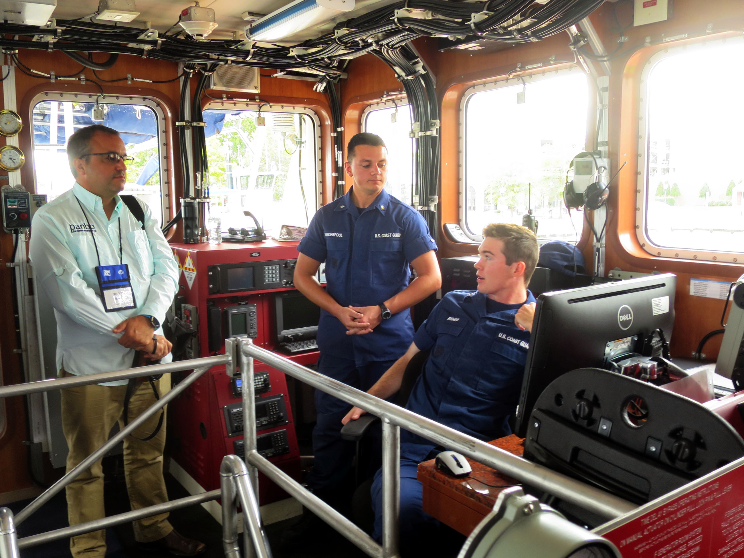 Touring a USCG fast response cutter at NMEA/RTCM Conference
