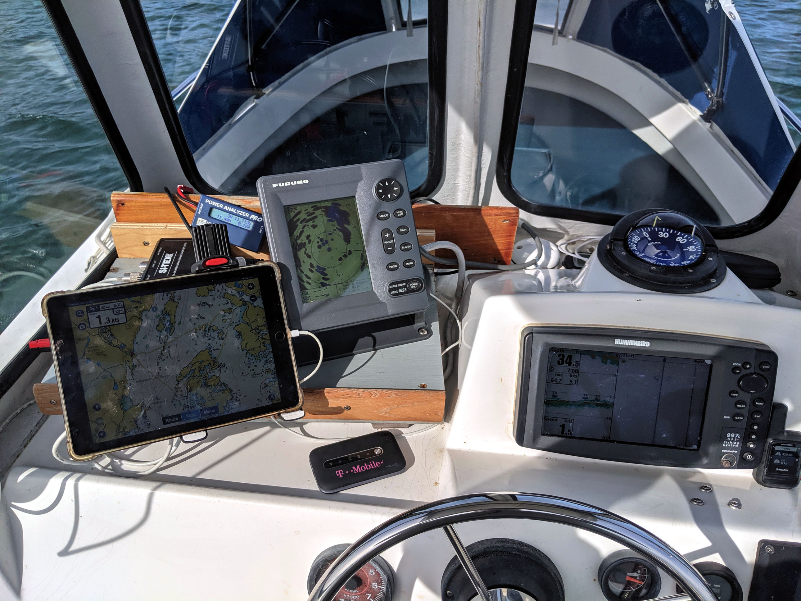 Testing Navionics Boating, Sitex MDA Class B/SO AIS, TMobile on 10/8/19