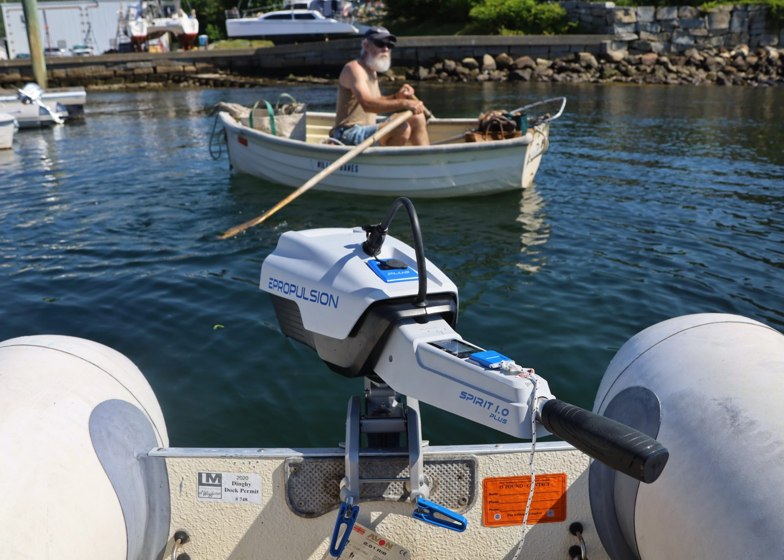 Capt. Dan Pease, owner of two Torqeedo outboards, was also onhand for the testing